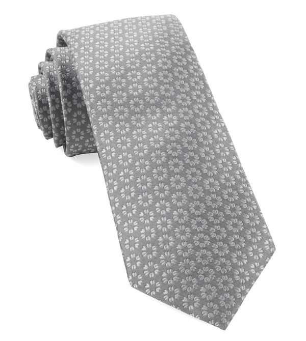First Look Floral Grey Tie