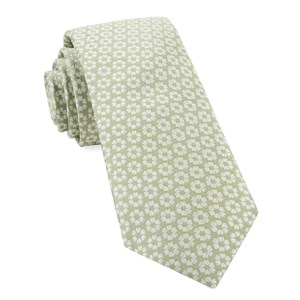 first look floral sage green ties