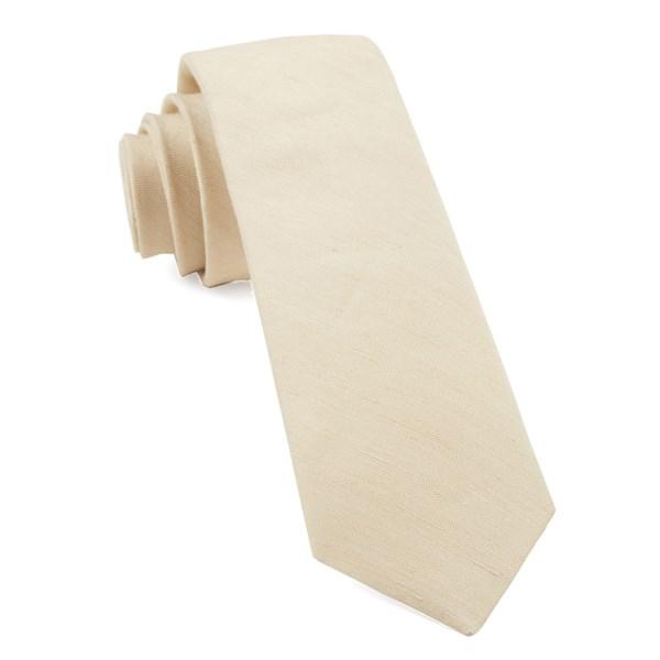 Light Champagne Linen Row Tie