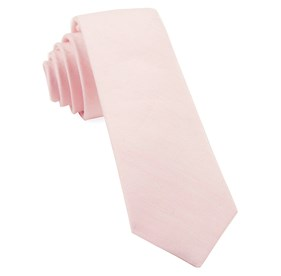 Blush Pink Linen Row ties