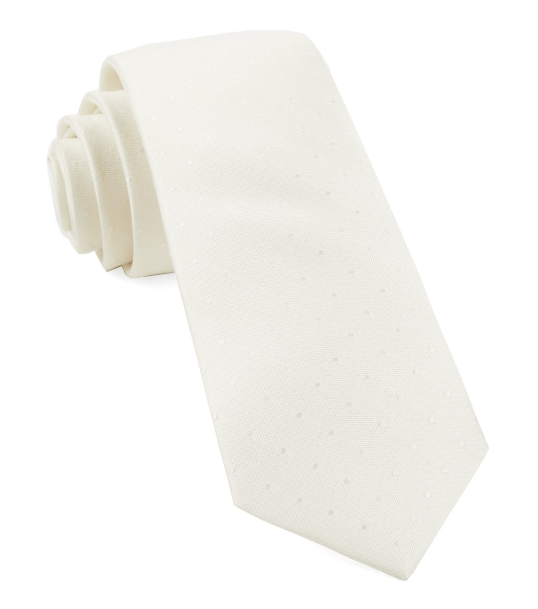 "Love At First Dot - Ivory - 3"" x 58"" - Ties"