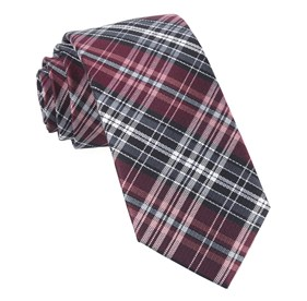 Burgundy Motley Plaid ties