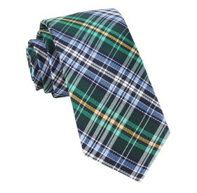 Green Motley Plaid ties