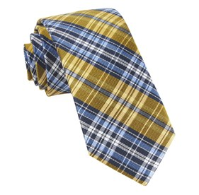 Yellow Motley Plaid ties