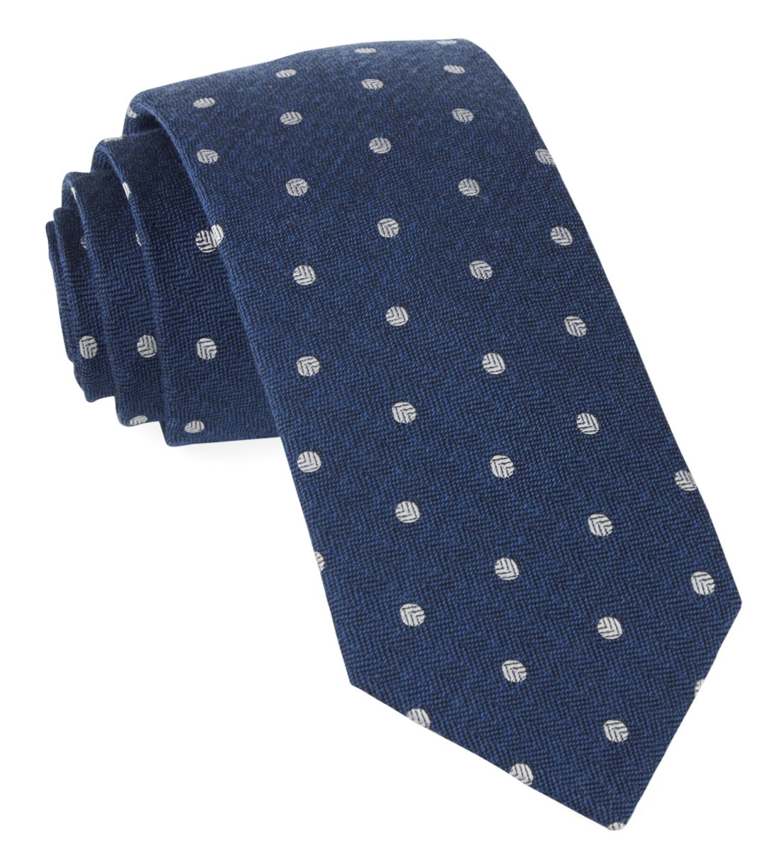 """Dotted Hitch - Classic Blue - 2.5"""" x 58"""" - Ties"""