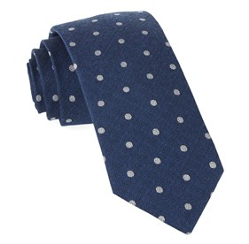 Classic Blue Dotted Hitch ties