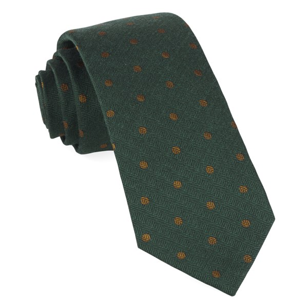 Hunter Green Dotted Hitch Tie