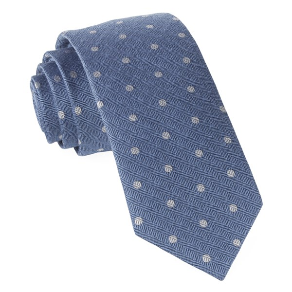 Light Blue Dotted Hitch Tie