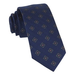 medallion shields navy ties