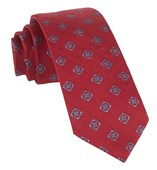 "Medallion Shields - Red - 3"" x 58"" - Ties"