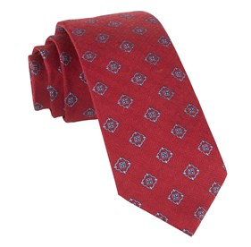 Red Medallion Shields ties