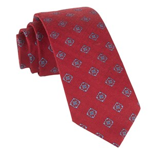 medallion shields red ties