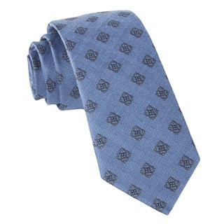 medallion shields light blue ties