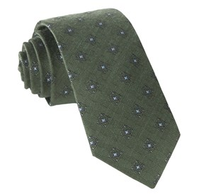 Army Green Medallion Shields ties