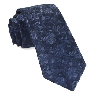 ramble floral navy ties