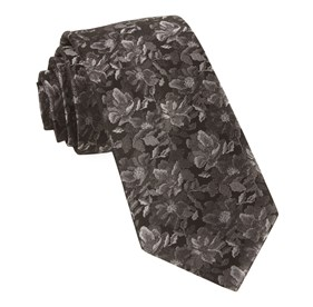 Black Ramble Floral ties
