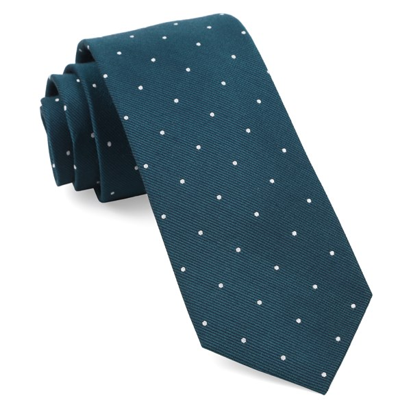 Teal Dotted Report Tie