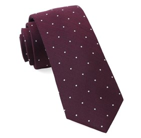 Dotted Report Wine Ties