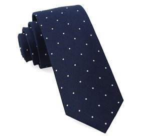 Navy Dotted Report ties