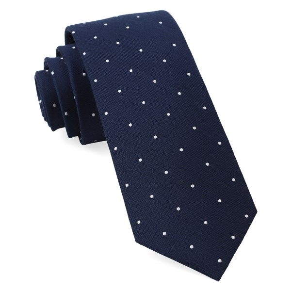 Navy Dotted Report Tie