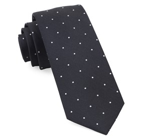 Dotted Report Charcoal Ties
