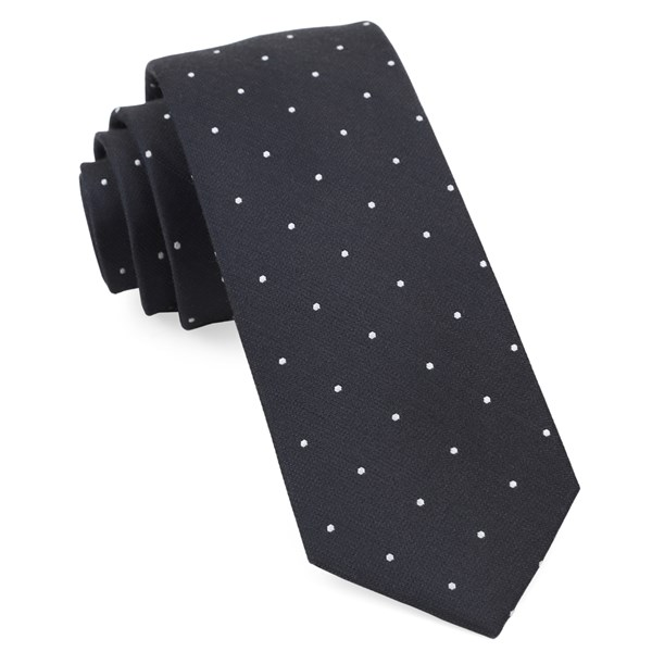 Charcoal Dotted Report Tie