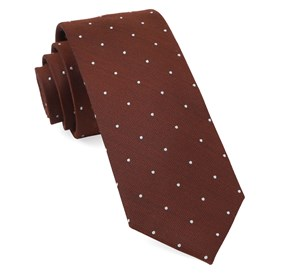 Dotted Report Burnt Orange Ties