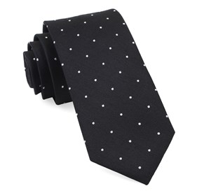 Black Dotted Report ties