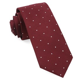 Burgundy Dotted Report ties