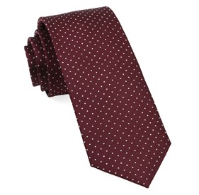 Wine Mini Dots boys ties