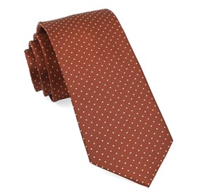 Copper Mini Dots boys ties