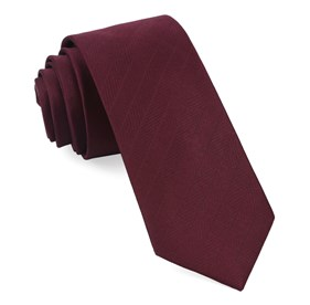 Wine Herringbone Vow boys ties