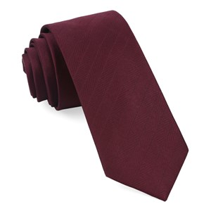herringbone vow wine ties