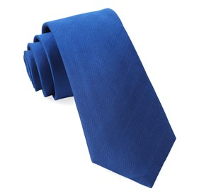 Royal Blue Herringbone Vow ties