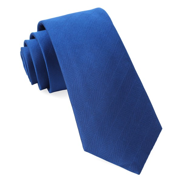 Royal Blue Herringbone Vow Tie