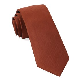 Copper Herringbone Vow boys ties