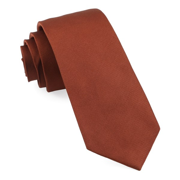 Copper Grosgrain Solid Tie