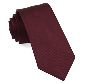 Wine Grosgrain Solid boys ties