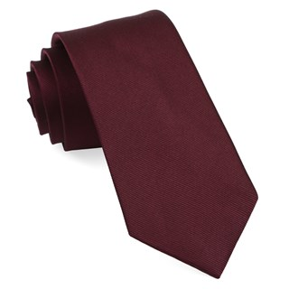 grosgrain solid wine ties