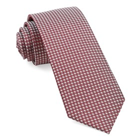 Burgundy Be Married Checks ties
