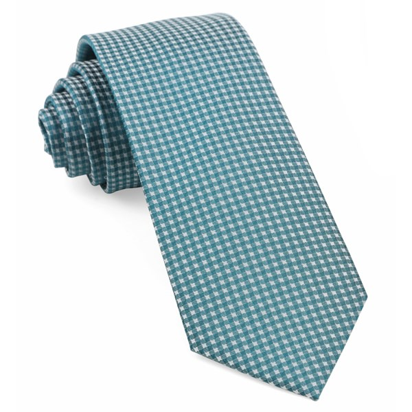 Teal Be Married Checks Tie