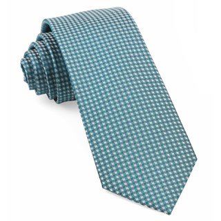 Be Married Checks Teal Tie