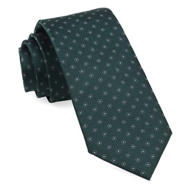 Hunter Green Sparkler Medallions ties
