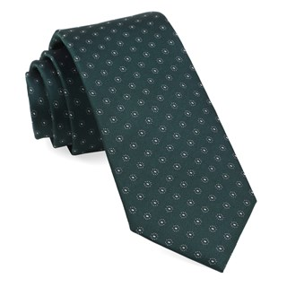 Sparkler Medallions Hunter Green Tie
