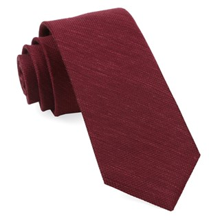 Jet Set Solid Burgundy Tie