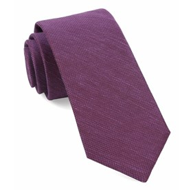 Jet Set Solid Azalea Ties