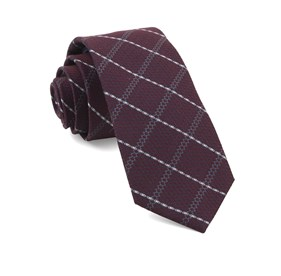 Burgundy Gem Plaid ties