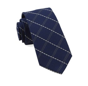 Navy Gem Plaid ties