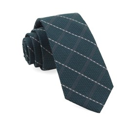 Gem Plaid Hunter Green Ties