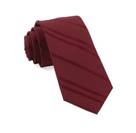 Wool Path Stripe Burgundy Ties